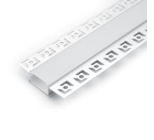 Профиль алюминиевый встраиваемый скрытый, серебро, CAB254