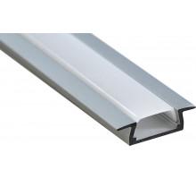 Профиль алюминиевый встраиваемый, серебро, CAB251