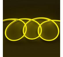 Гибкий Неон 12V 9,6 Вт/м Жёлтый 6*12 5м