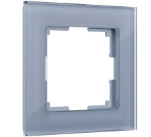 W0011115/ Рамка на 1 пост Favorit (серый,стекло)