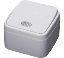 Выключатель 1-клавишный c индикатором STEKKER, PSW10-31-20, открытой установки, 250В, 10А, IP20, серия Basic, белый