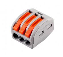 Cтроительно-монтажная клемма 3-проводная STEKKER, LD222-413 (5 штук в упаковке)
