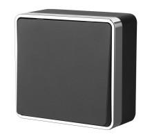W5010035/ Выключатель одноклавишный Gallant (черный/хром)
