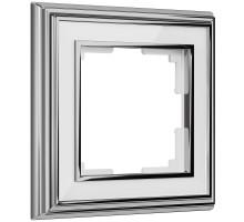 W0011331/ Рамка на 1 пост Palacio (хром/белый)
