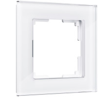 W0011101/ Рамка на 1 пост Favorit (белый,стекло)