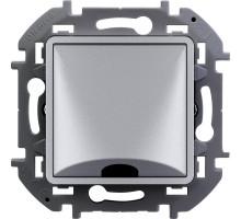 """Вывод кабеля Legrand Inspiria, 12 мм, с зажимом, цвет """"Алюминий"""""""