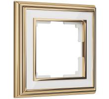 W0011329/ Рамка на 1 пост Palacio (золото/белый)