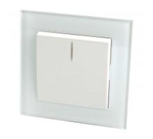 Выключатель 1-клавишный c индикатором, STEKKER, GLS10-7001-01, 250В, 10А, серия Катрин, белый