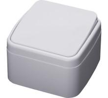 Выключатель 1-клавишный STEKKER, PSW10-41-20, открытой установки, 250В, 10А, IP20, серия Basic, белый