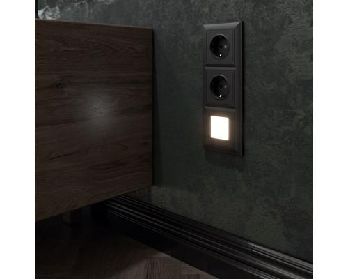 W1171008/ Розетка с заземлением (черный матовый)