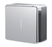 W5010106/ Выключатель одноклавишный с подсветкой Gallant (серебряный)