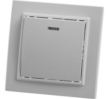 Выключатель 1-клавишный c индикатором STEKKER, PSW10-9001-01, 250В, 10А, серия Эрна, белый
