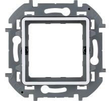 """Адаптер Legrand Inspiria для 2-модульных механизмов Legrand Mosaic, скрытого монтажа, цвет """"Белый"""""""