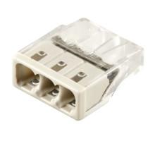 Клемма монтажная 3-проводная STEKKER  для 1-жильного проводника, LD2273-202 (5 штук в упаковке)