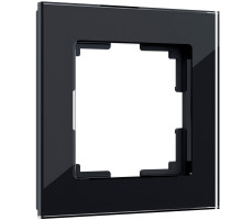 W0011108/ Рамка на 1 пост Favorit (черный,стекло)