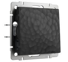 W1210008/ Выключатель одноклавишный (hammer черный)