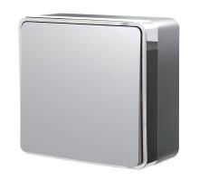 W5010006/ Выключатель одноклавишный Gallant (серебряный)