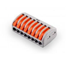 Cтроительно-монтажная клемма 8-проводная STEKKER, LD222-418 (5 штук в упаковке)