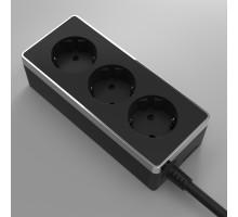 W6523635/ Удлинитель Gallant 3х2К+З, 3м. (черный/хром)