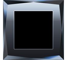 W0011208/ Рамка на 1 пост Diamant  (черный)