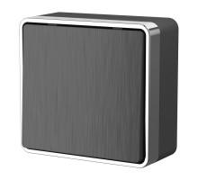 W5010004/ Выключатель одноклавишный Gallant (графит рифленый)