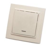 Выключатель 1-клавишный с индикатором STEKKER, PSW10-9001-02, 250В, 10А, серия Эрна, слоновая кость