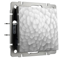 W1212006/ Выключатель одноклавишный проходной (hammer серебряный)