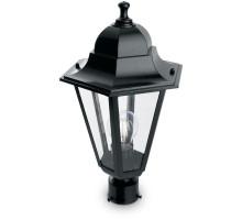 Светильник садово-парковый Feron 6203/PL6203 шестигранный на столб 100W E27 230V, черный