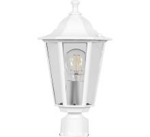 Светильник садово-парковый Feron 6103/PL6103 шестигранный на столб 60W E27 230V, белый