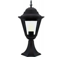 Светильник садово-парковый Feron 4204/PL4204 четырехгранный на постамент 100W E27 230V, черный