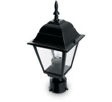Светильник садово-парковый Feron 4103/PL4103 четырехгранный на столб 60W E27 230V, черный