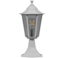 Светильник садово-парковый Feron 6204 шестигранный на постамент 100W E27 230V, белый