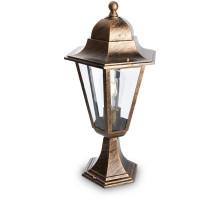 Светильник садово-парковый Feron 6204/PL6204 шестигранный на постамент 100W E27 230V, черное золото