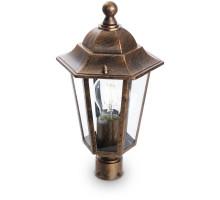 Светильник садово-парковый Feron 6103/PL6103 шестигранный на столб 60W E27 230V, черное золото
