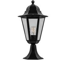Светильник садово-парковый Feron 6204/PL6204 шестигранный на постамент 100W E27 230V, черный