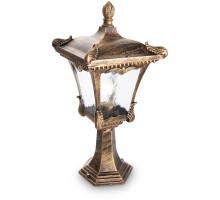 Светильник садово-парковый Feron 2003M четырехгранный на постамент 100W E27 230V, черное золото