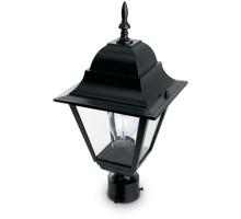 Светильник садово-парковый Feron 4203/PL4203 четырехгранный на столб 100W E27 230V, черный