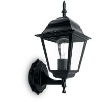 Светильник садово-парковый Feron 4101/PL4101 четырехгранный на стену вверх 60W E27 230V, черный