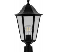 Светильник садово-парковый Feron 6103/PL6103 шестигранный на столб 60W E27 230V, черный