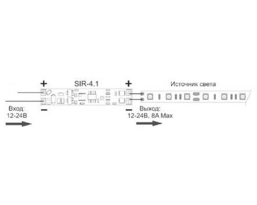 SIR-4D   выключатель на взмах диммируемый встраиваемый 12-24V