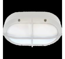 Ecola GX53 LED B4148S светильник накладной IP65 матовый Овал с решеткой алюмин. 2*GX53 Белый