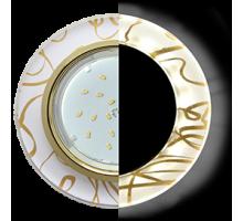 Ecola GX53 H4 LD5310 Glass Стекло Круг с подсветкой  золото - золото на белом