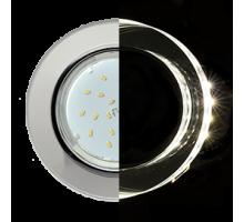 Ecola GX53 H4 LD5310 Glass Стекло Круг с подсветкой  хром - хром (зеркальный)
