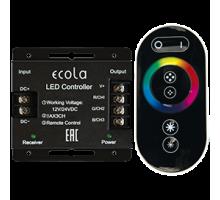 Ecola Контроллер 24A 288W 12V (576W 24V) с кольцевым сенсорным черным радиопультом