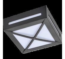 Ecola GX53 LED 3083W светильник накладной IP65 матовый Квадрат с решеткой металл. 1*GX53 Черный