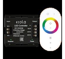 Ecola Контроллер 18A 216W 12V (432W 24V) с кольцевым сенсорным белым радиопультом