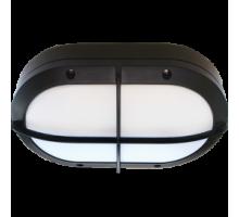Ecola GX53 LED B4148S светильник накладной IP65 матовый Овал с решеткой алюмин. 2*GX53 Черный