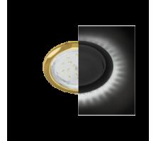 Ecola GX53 H4 LD5300 светильник встраив. без рефл. с подсветкой Золото
