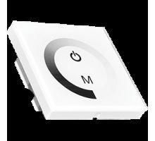 Ecola Диммер 12A 144W 12V (288W 24V) настенный белый с кольцевым сенсором с установ. коробкой