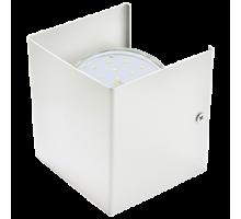 Ecola GX53-N51 светильник настенный бра прямоугольный матовый белый 1* GX53  (упаковка 2шт)